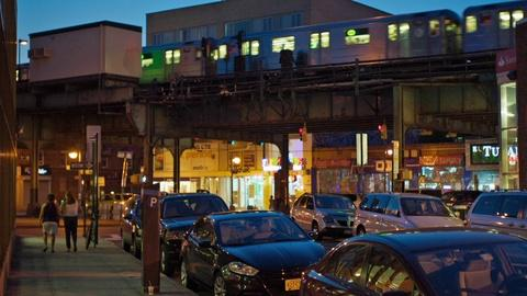 In Jackson Heights -- A Night Scene in Jackson Heights