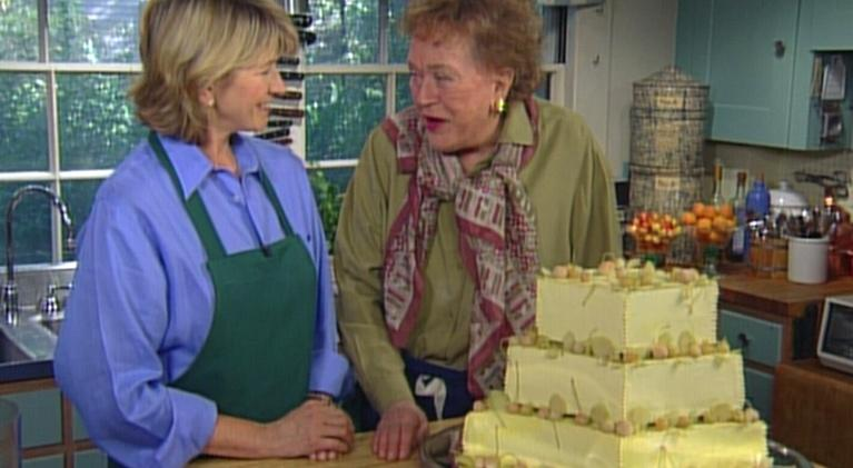 Baking With Julia: A Three-Tiered Wedding Cake with Martha Stewart, Part 1