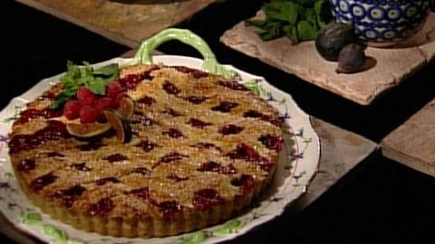Baking With Julia -- S3 Ep13: Raspberry-Fig Crostata with Flo Braker and Leslie M