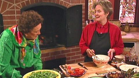 Julia Child: Cooking With Master Chefs -- Salad with Alice Waters