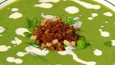 Chilled Green Pea Soup with Daniel Boulud