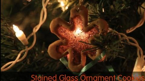 Kitchen Explorers -- Stained Glass Ornament Cookies