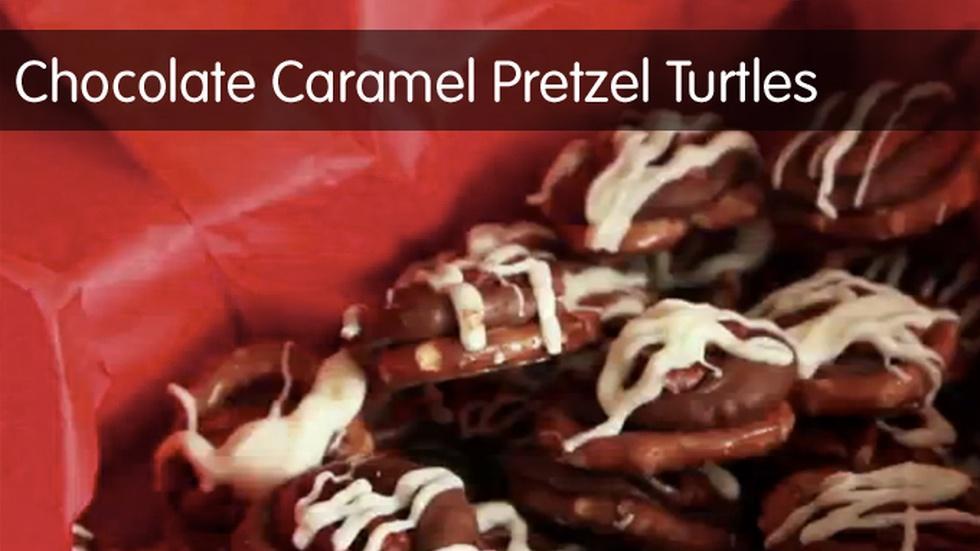 Chocolate Caramel Pretzel Turtles image