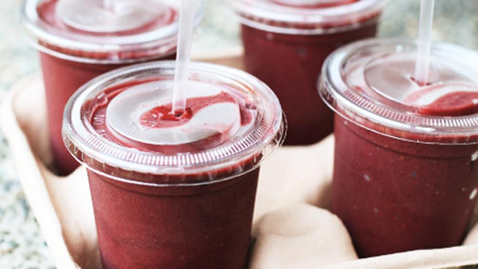 Triple Berry Spinach Smoothies image