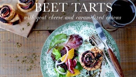 Kitchen Vignettes -- S3 Ep7: Beet Tarts with Goat Cheese and Caramelized Onions