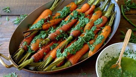 Kitchen Vignettes -- S3 Ep10: Roasted Carrots with Carrot Top Pesto