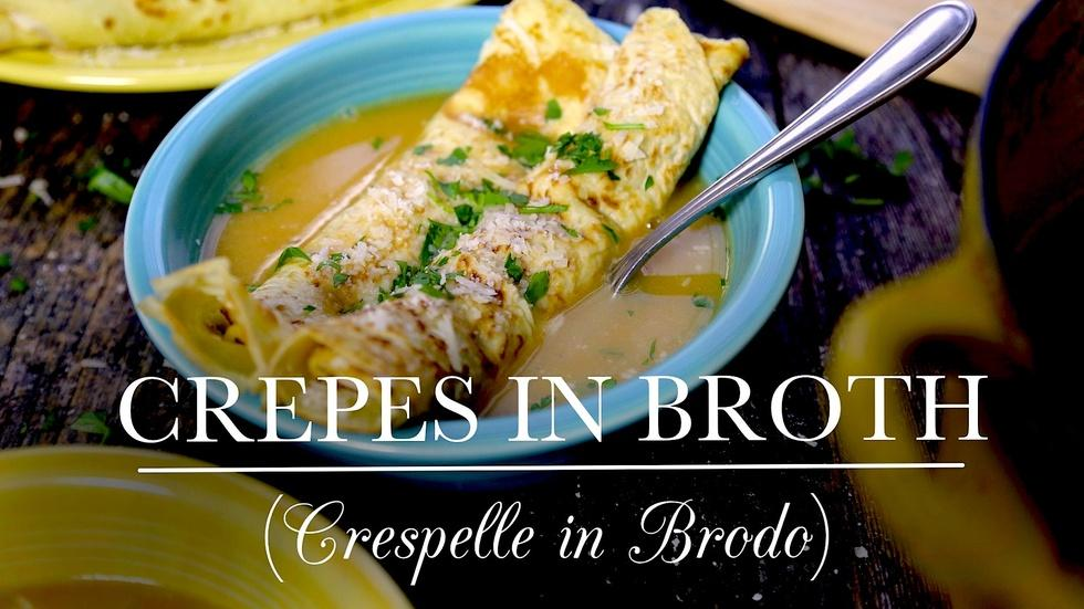 Crepes in Broth (Crespelle in Brodo) image