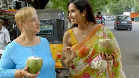 Lidia Celebrates America -- S3 Ep1: Home For the Holidays: Padma Lakshmi