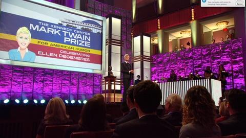 Mark Twain Prize -- Ellen's Acceptance Speech