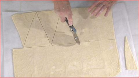 Martha Bakes -- How To Cut & Form Croissant Dough