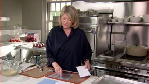 Martha Bakes -- How to Form Tuiles