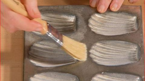 Martha Bakes -- Preparing Madeleine Molds