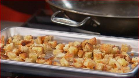 Martha Stewart's Cooking School -- Making Croutons
