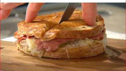 Martha Stewart's Cooking School -- Preparing a Reuben Sandwich