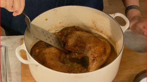 Martha Stewart's Cooking School -- Braising Turkey Legs