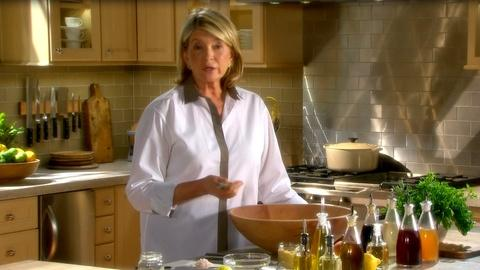 Martha Stewart's Cooking School -- Learn About Vinaigrettes