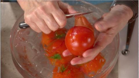 Martha Stewart's Cooking School -- Peeling Tomatoes