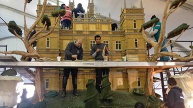 Behind-the-Scenes of the Downton Abbey Rose Parade Float