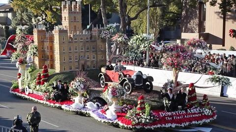 Downton Abbey -- The Downton Abbey Float: On the Rose Parade Route