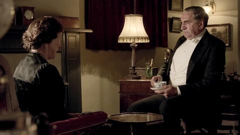Downton Abbey - Masterpiece -- S3: Carson and Mrs. Hughes
