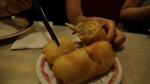 Off the Menu -- New York: The Nom Wah Egg Roll