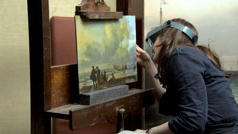 National Gallery -- A National Gallery Restorer at Work