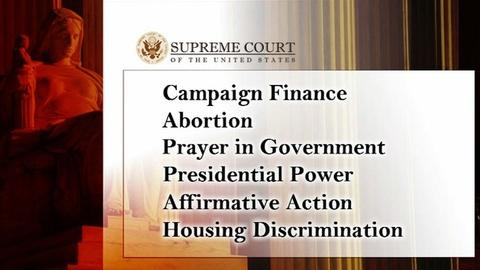 PBS NewsHour -- Supreme Court opens cases on campaign money, abortion