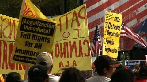 PBS NewsHour -- Advocates rally to renew push for immigration reform