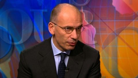 PBS NewsHour -- Italy's PM Letta: 'American leadership is needed' for Europe