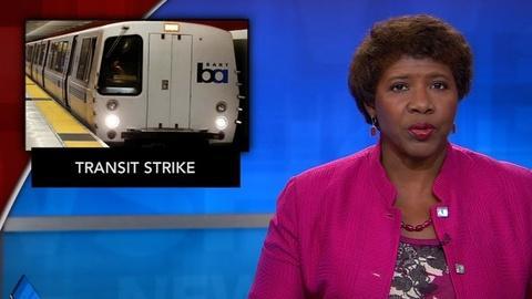 PBS NewsHour -- News Wrap: Bay Area transit workers go on strike
