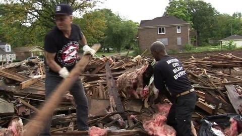 PBS NewsHour -- Detroit residents engage the community with signs of hope
