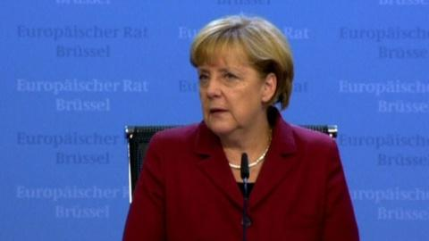 PBS NewsHour -- Merkel, Hollande call for 'no spying' agreement with U.S.