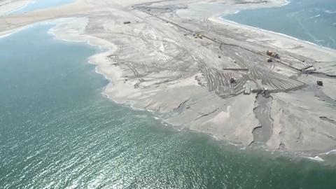 PBS NewsHour -- The Sand Engine Churns to Bring Sand to the Beach