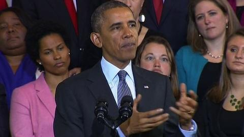 PBS NewsHour -- Obama defends ACA benefits, confronts cancellation claims