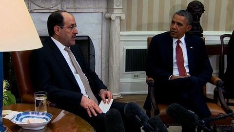 PBS NewsHour -- Iraqi PM Maliki takes plea for help to President Obama