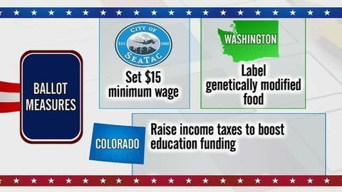 PBS NewsHour -- States' voters weigh GMO labeling, marijuana tax measure