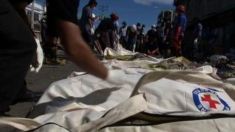 PBS NewsHour -- Aid reaches remote parts of Philippines but challenges ahead