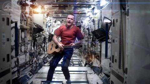 PBS NewsHour -- Astronaut Hadfield shares 'unbeatable point of inspiration'