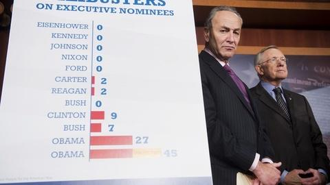 PBS NewsHour -- 'Nuclear option' for federal nominations inflames debate