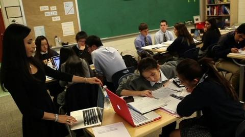 PBS NewsHour -- How 'flipped classrooms' are turning school days upside down