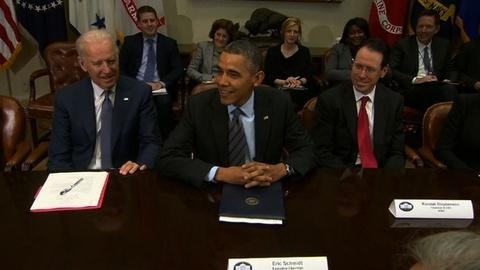 PBS NewsHour -- Tech titans visit White House to talk surveillance reform
