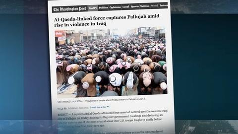 PBS NewsHour -- Al-Qaida group takes control of central Fallujah