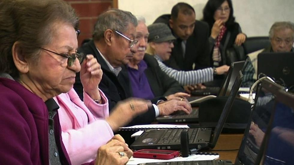 Closing the digital divide by helping seniors get online image