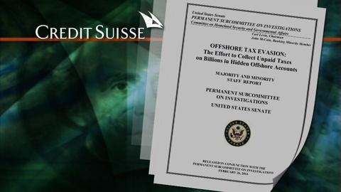 PBS NewsHour -- Senate grills Swiss banking giant on tax evasion