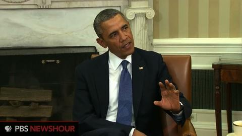 PBS NewsHour -- Obama: Facts on the ground in Crimea are deeply troubling
