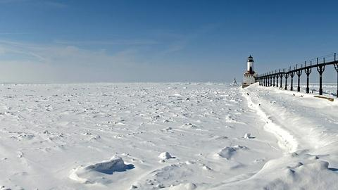 PBS NewsHour -- Coping with exceptional ice in the Great Lakes