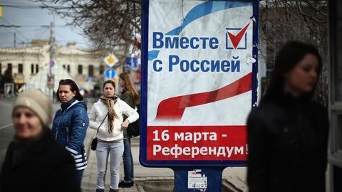 PBS NewsHour -- In Crimea, rifts widen as referendum looms