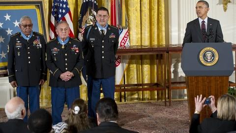 PBS NewsHour -- Obama awards Medal of Honor to 24 overlooked veterans