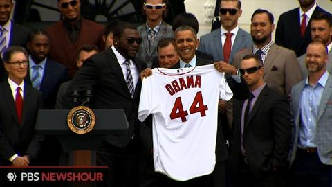 PBS NewsHour -- President Obama honors Red Sox at White House