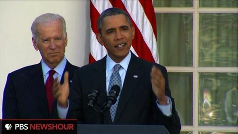 PBS NewsHour -- Obama: 7.1 million Americans have signed up for health care